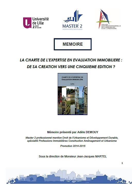 La charte de l'expertise en évaluation immobilière : de sa création vers une 5ème édition?