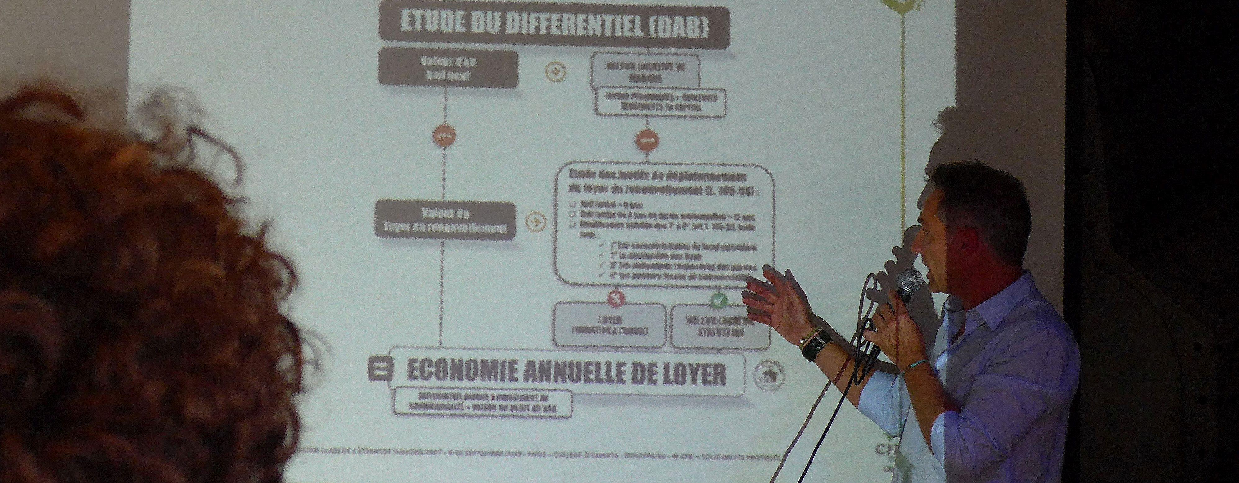 Phiippe FAVRE -REGUILLON, expert fondateur du Cabinet IFC EXPERTISE intervenait lors de la première Master class de l'expertise immobilière dédiée à l'éviction commerciale, droit au bail et fonds de commerce, Paris les 9 & 10 septembre 2019