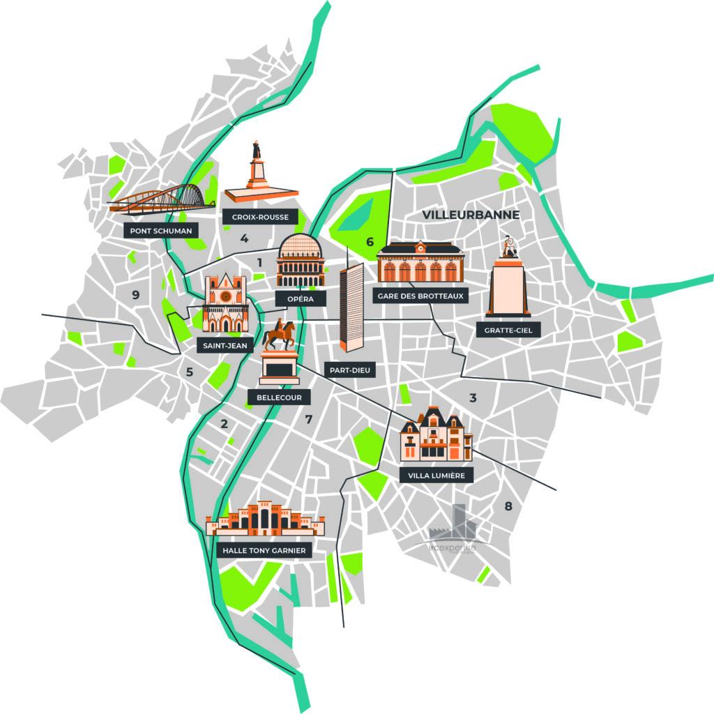Cartographie des valeurs locatives commerce : marché et fixations judiciaires, Métropole de Lyon et autres juridictions régionales - Cabinet IFC EXPERTISE FAVRE-REGUILLON, experts en baux commerciaux
