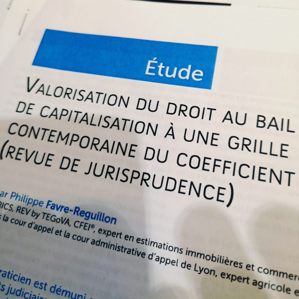 AJDI 11 2018 COMMENT VALORISER UN DROIT AU BAIL COEFFICIENT MULTIPLICATEUR CONTEMPORAIN FAVRE REGUILLON
