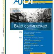 """AJDI Dalloz, décembre 2018 : numéro hors série spécial """"Baux Commerciaux"""""""