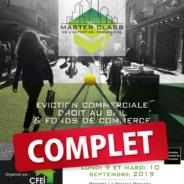 Les inscriptions à la 1ère Master class de l'expertise immobilière® sont closes…!