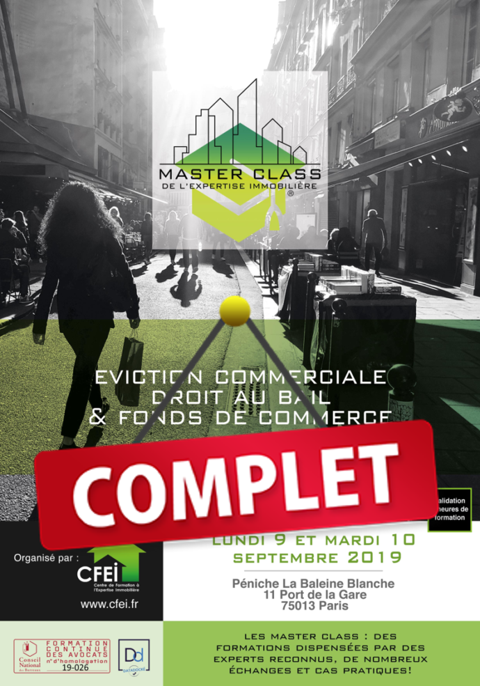 MASTER CLASS EXPERTISE IMMOBILIERE COMPLET