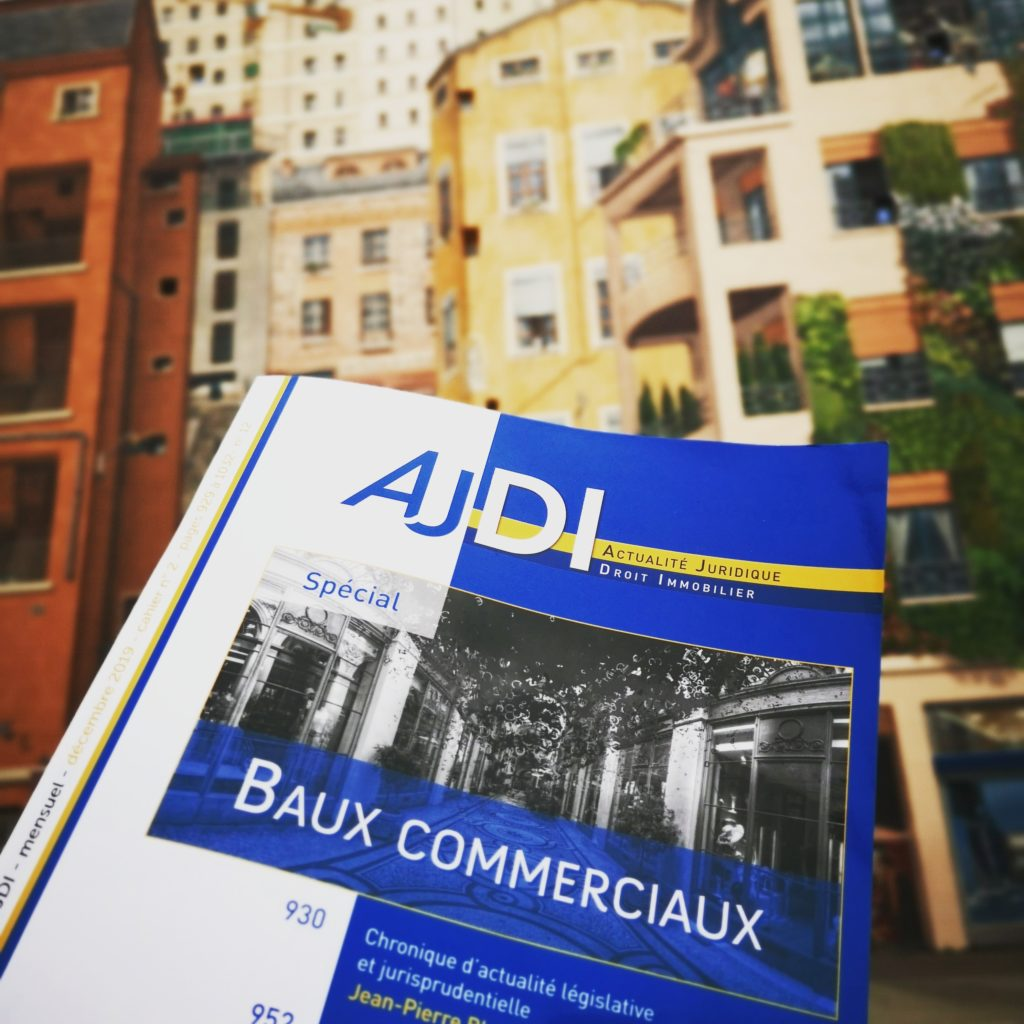 AJDI DALLOZ SPECIAL BAUX COMMERCIAUX IFC EXPERTISE EXPERTS IMMOBILIERS LYON FRANCE