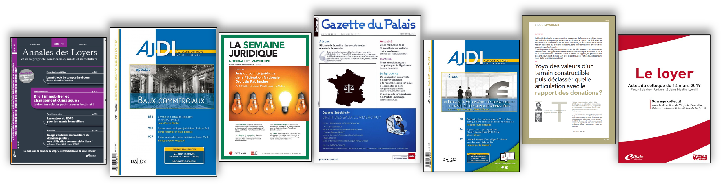PUBLICATIONS PROFESSIONNELLES DU CABINET IFC EXPERTISE FAVRE-REGUILLON