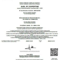 Notre Cabinet est très fier de voir son centre de formation certifié QUALIOPI !