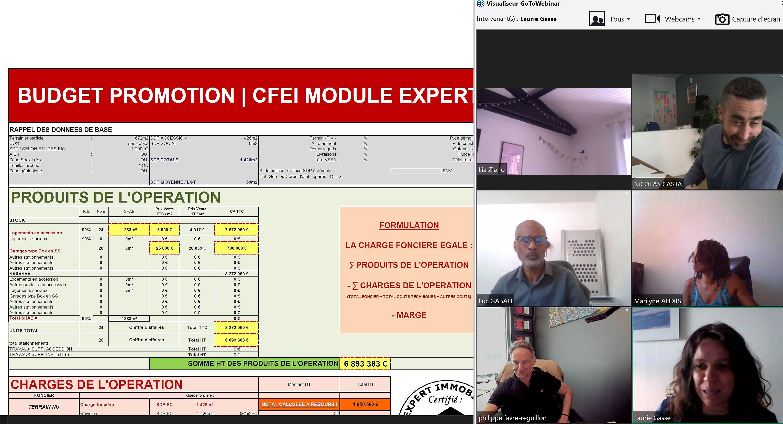 Intervention pour le CFEI de Philippe FAVRE REGUILLON sur le thème de la méthode du budget promoteur pour calcul de la charge foncière