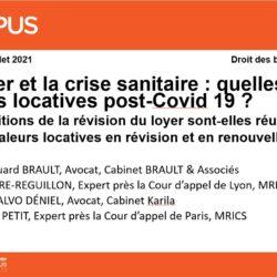Notre cabinet intervient le 7 juillet 2021 pour Campus Avocats sur le thème des valeurs locatives post Covid-19